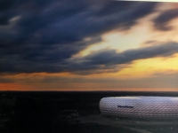 Allianz Arena als Foto im Presseraum