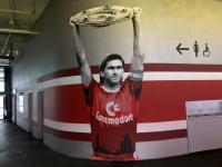 Allianz Arena neue gemalte Legenden beim Rundgang