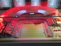 FCB Erlebniswelt Modell Allianz Arena Querschnitt