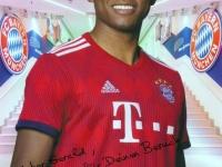 Allianz Arena Besuch 15 12 2018 Autogramm Alaba für Gerald