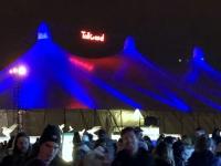 Tollwood Winterfestival Theresienwiese riesengrosse Zelte