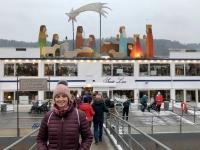 Schwimmender Markt auf der Donau
