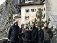 2018 12 29 Burg Predjama Glühwein zum Abschluss