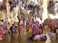 2018 12 29 Postojna Höhle Weihnachtskrippe beim Ausgang