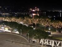 2018 12 30 Portoroz Abendstimmung vom Zimmer  aus