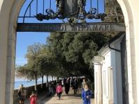 2018 12 30 Triest Schloss Miramare Eingang zum Park
