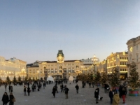 2018 12 30 Triest Piazza Unita del Italia in der Dämmerung