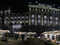 2018 12 31 Portoroz Hotel Palace Kempinski mit Weihnachtsmarkt