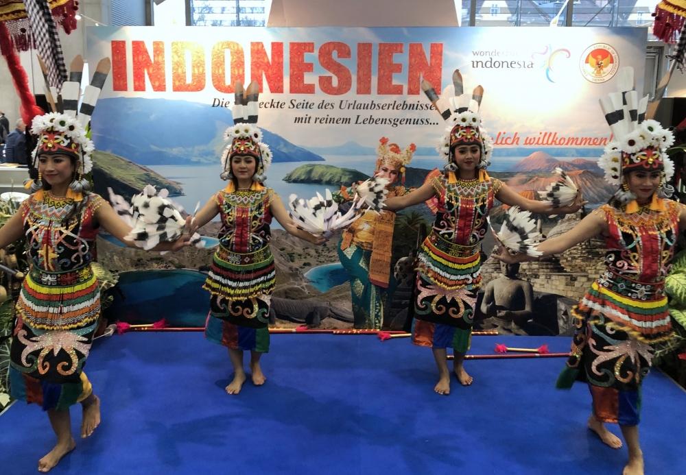 Indonesien Folklorevorführung