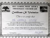 2019 02 14 Albreda Pilgerzertifikat für Besuch