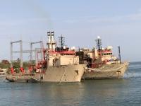 2019 02 15 Banjul Hafen Stromerzeugung mit Öl  gesponsert von Katar