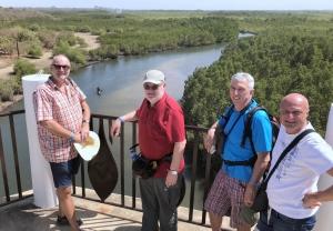 2019 02 12 Makasutu Blick vom Aussichtsturm auf  Nebenarm des Gambia River