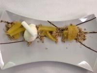 Dessert Gegrillte Ananas mit Vanille_Kokosmüsli und Joghurtsorbet