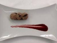 Dessert Schokolade auf Kirschen