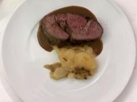 HS Ribeye Steak mit Sellerie und Kartoffelgratin