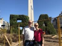 2019 03 02 Buenos Aires Obelisk auf der Avenue 9 Juli