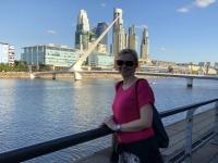 2019 03 02 Buenos Aires Puerto Madero mit Brücke Puente de la Mujer