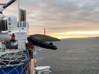 2019 03 05 Falklandinseln Zodiac ins Wasser