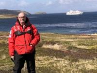 2019 03 05 New Island Coffins Harbour Blick zurück zum Landungsstrand