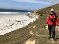 2019 03 06 Saunders Island Spaziergang auf den Berg hinauf