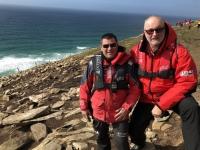 2019 03 06 Saunders Island mit Kapitän Mickael Debien
