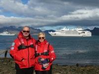 2019 03 10 Grytviken Blick auf Schiff