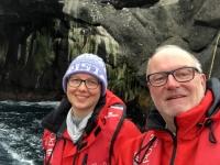 2019 03 17 Nightingale Island Fahrt in die Höhle