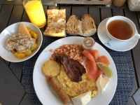 2019 03 24 Letztes Frühstück am Schiff