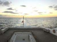 2019 03 20 Sonnenuntergang erstmals  in der Poolbar Deck 7