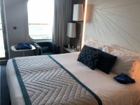 Unsere Balkonkabine 309 grosses Bett