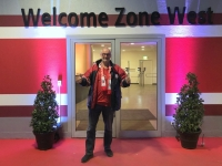 Ausgang in der Welcome Zone West