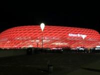 Beleuchtete Allianz Arena