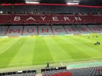 Das Stadion ist schon leer