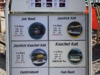 Preisliste Booteverleih