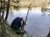 Wasserentnahme aus dem Almsee
