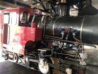 Dampflok mit Öl betrieben