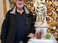 Statue beim Heurigen Zum Herrgott aus Sta Wien