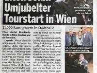 Zeitungsbericht nächsten Tag in Zeitung Österreich