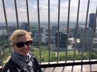 Blick vom Donauturm auf UNO City