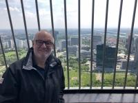 Blick vom Donauturm auf die UNO City und Donau City