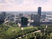 Blick vom Donauturm auf die UNO City