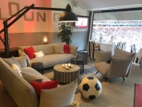 Blick von der Lounge ins Stadion