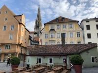 Historische Wurstküche an der Donau