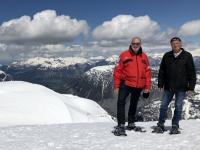 Schneeschuhwanderer unter sich