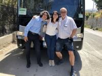 2019 05 30 Cefalu mit Busfahrer Angelo und RLin Gloria