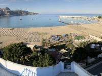 2019 05 24 Giardini Naxos Blick vom Hotelbalkon im 5 OG