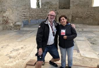 2019 05 27 Piazza Armerina Villa Casale mit RLin Maria Luise