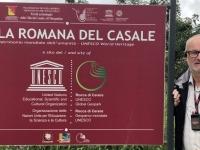 Italien Römische Villa von Casale Tafel