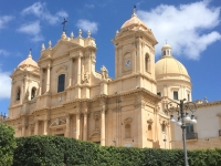 Italien Spätbarocke Städte des Val di Noto Kathedrale Noto Kopfbild