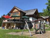 Stärkung im Gasthaus Alpenstubn oberhalb Kletterpark